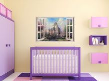 FULL COLOUR Castle Wall Art, Sticker, PVC Decal, Modern Transfer, 3D Window,